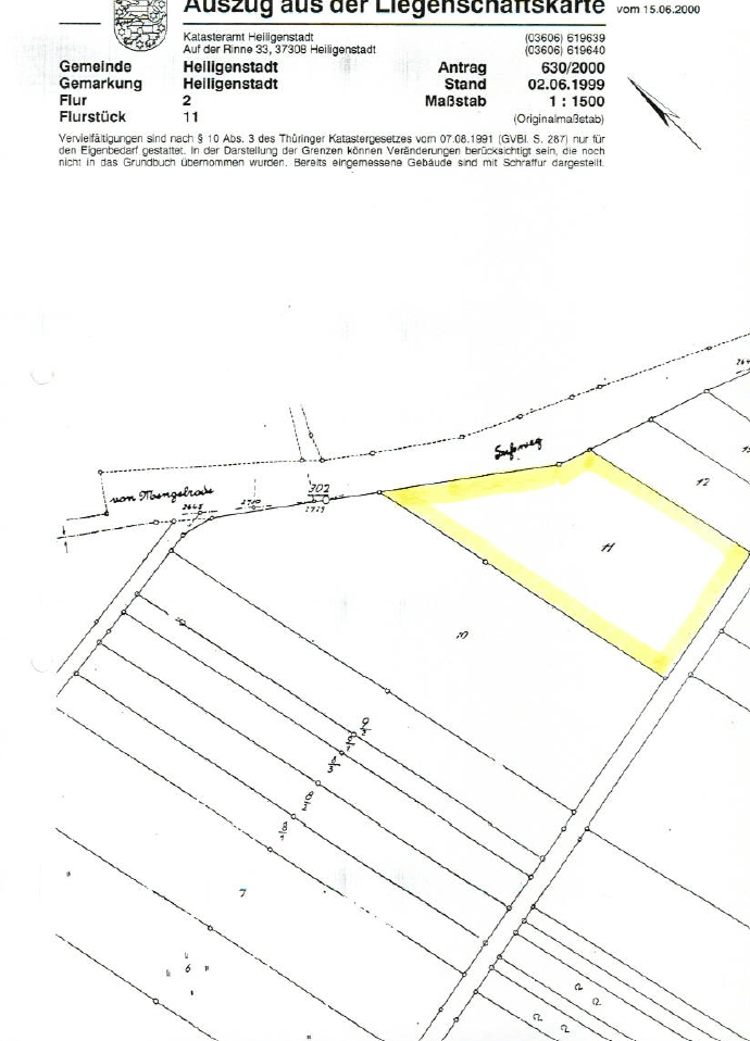 Auf dem Hohen Rott - 6871m² - Heilbad Heiligenstadt - Grundstücke