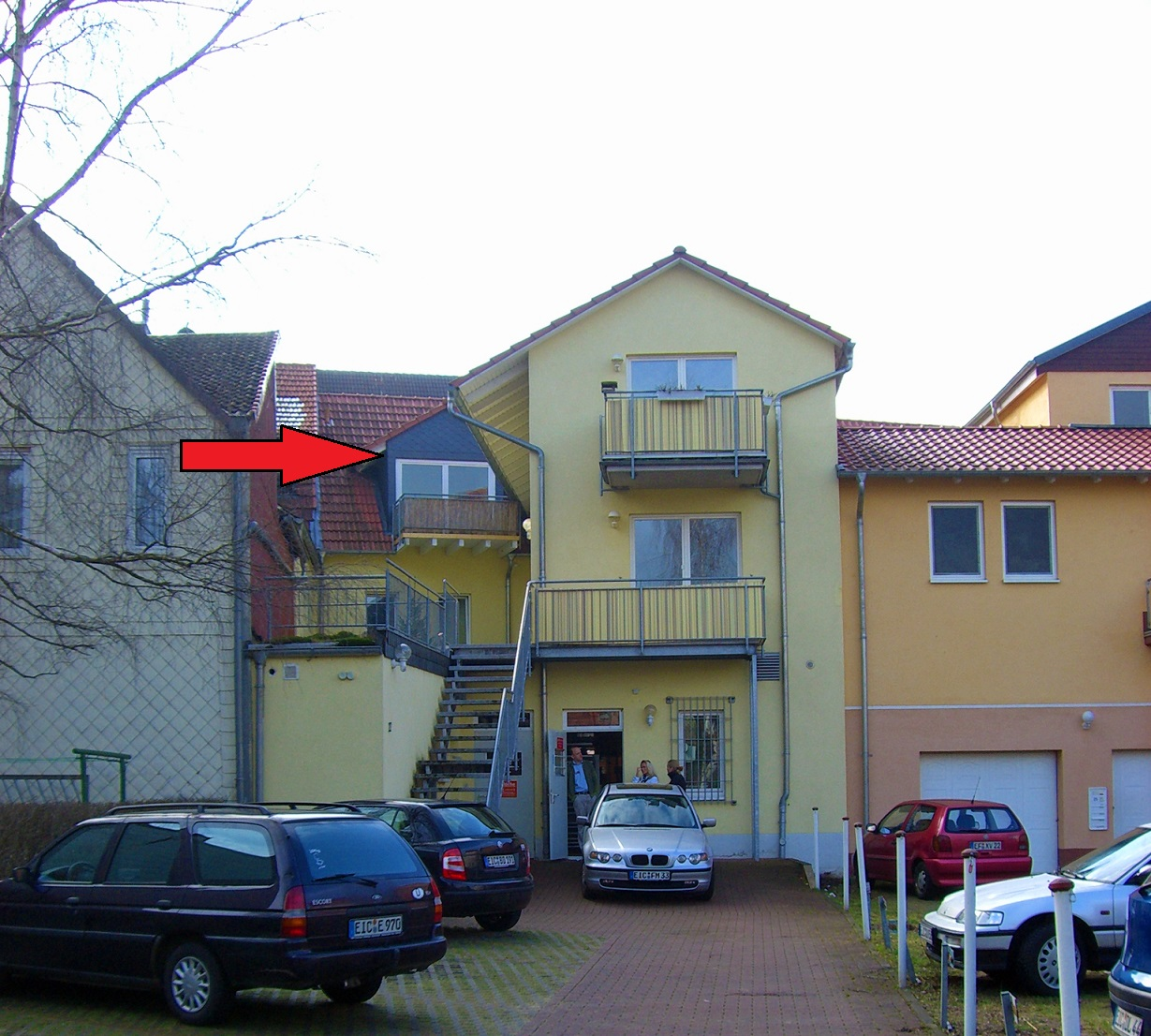 Wilhelmstrasse 27 Dachgeschoss Ansicht Balkon Stellplatz