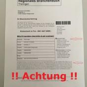 ! Achtung ! Regionales Branchenbuch Thüringen