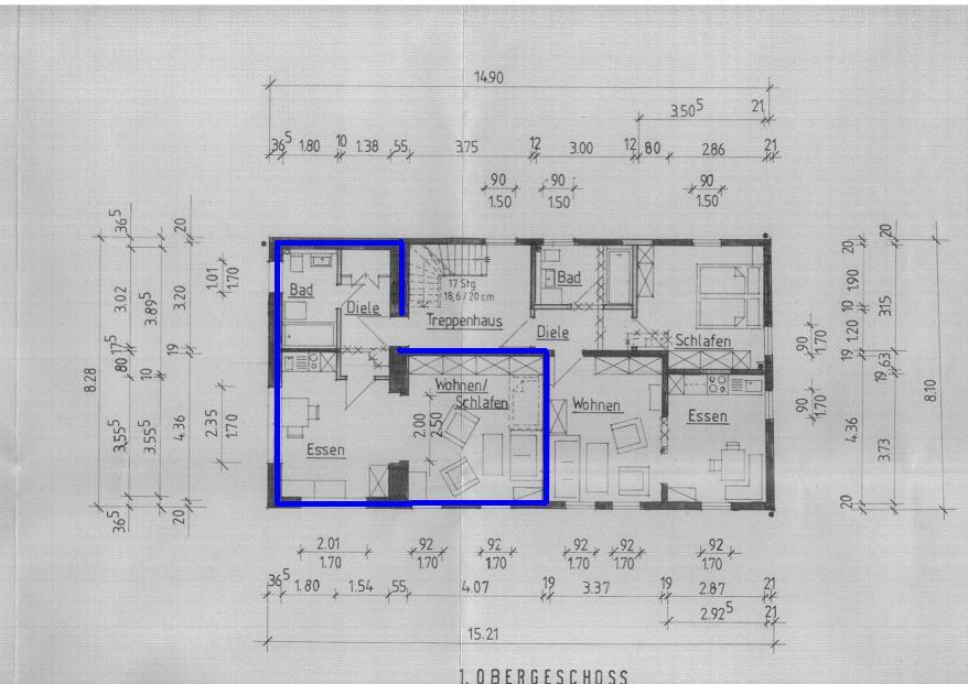 Kupfergasse1_1.OG_links_Grundriss 1-Zimmer